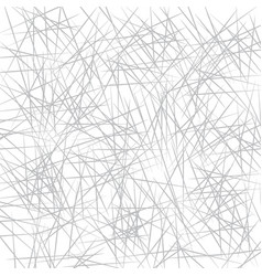 Chaotic grey lines background handmade drawing vector