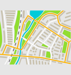 city map colored for navigation vector image
