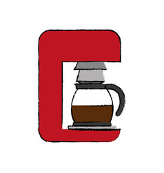 coffee drink machine vector image