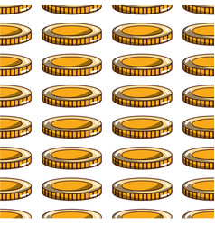 Coin cash money to financial economy background vector