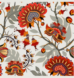 Colorful paisley pattern for textile cover vector