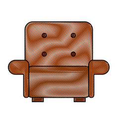 Comfortable sofa isolated icon vector