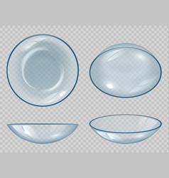 contact lens eyes optical items clean healthy vector image