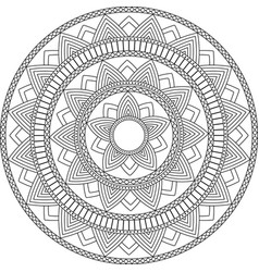 Decorative ornament in ethnic oriental style vector