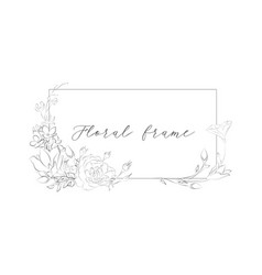 delicate floristic geometric frame vector image