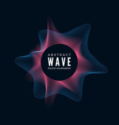design digital radial sound waves abstract vector image