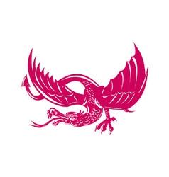 Dragon Retro vector