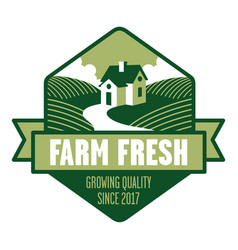 farm fresh logo vector image