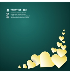 festive card with decorative hearts vector image