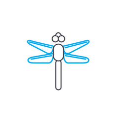 flying insects linear icon concept flying insects vector image