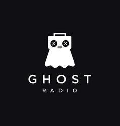 fun playful minimalist ghost radio tape logo icon vector image
