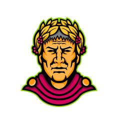 Gaius julius caesar mascot vector