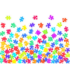 Game conundrum jigsaw puzzle rainbow colors vector