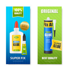 glue realistic banners vector image