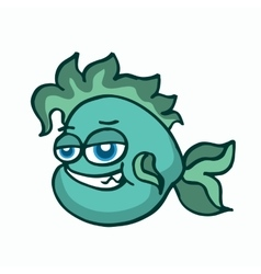 Green fish for kids t-shirt design vector