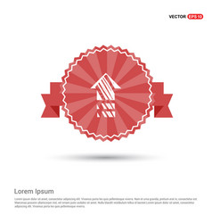 house icon - red ribbon banner vector image