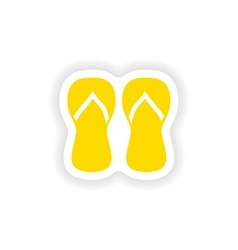 Icon sticker realistic design on paper thongs vector