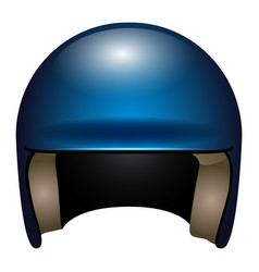 isolated baseball helmet vector image