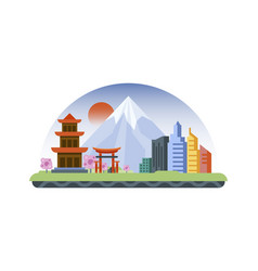 Japan icon in flat style vector