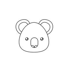Koala drawing face vector