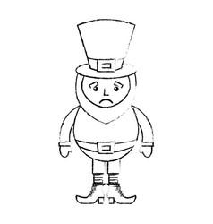 Leprechaun sad cartoon st patricks day character vector