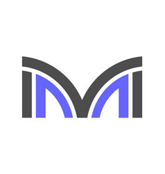 letter m logo icon concept vector image