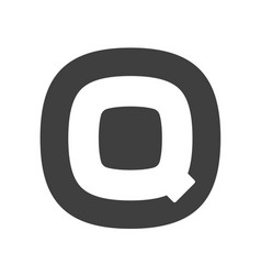 letter q flat web icon or sign isolated on white vector image