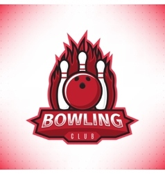 logo bowling club vector image