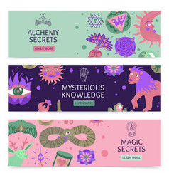 Magic horizontal banners vector