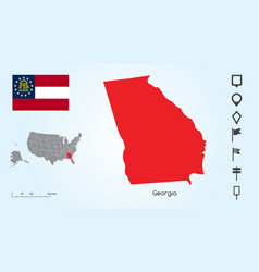 Map the united states with selected state vector