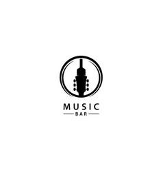 Music bar logo design icon vector