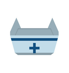 Nurse hat isolated vector