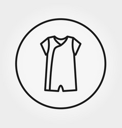 overalls jumpsuit icon editable thin vector image