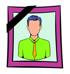 Photo of deceased icon icon cartoon vector