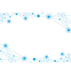 polygonal with connecting dots vector image
