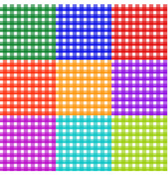 repeatable colorful checkered tartan backgrounds vector image
