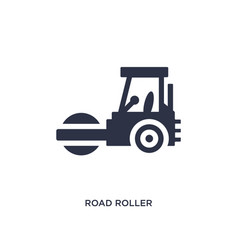 Road roller icon on white background simple vector