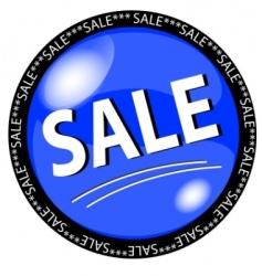 sale button vector image