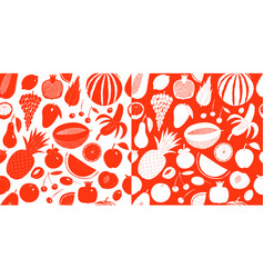scandinavian hand drawn fruit seamless pattern vector image