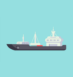 ship for carriage transportation on long distance vector image