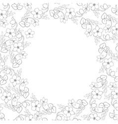 spiral rustic floral frame vector image