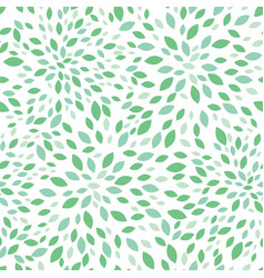 Spring green leaves bursts seamless repeat vector