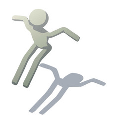 stick man leaping icon isometric style vector image