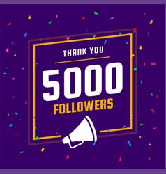 Thank you social media 5k followers vector