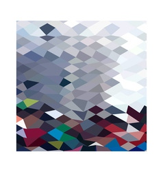 Tidal Wave Abstract Low Polygon Background vector