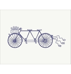Wedding Vintage tandem bicycle icon vector