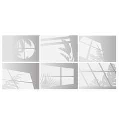 windows lights set plants vector image