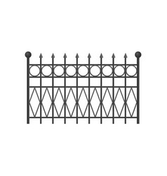 wrought iron fence protective barrier for house vector image