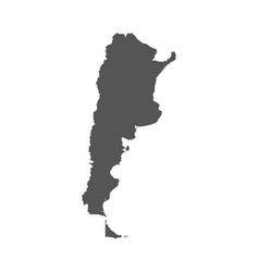 argentina map black icon on white background vector image