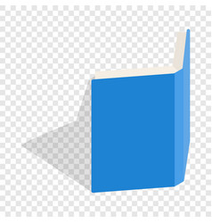 Blue open book cover isometric icon vector